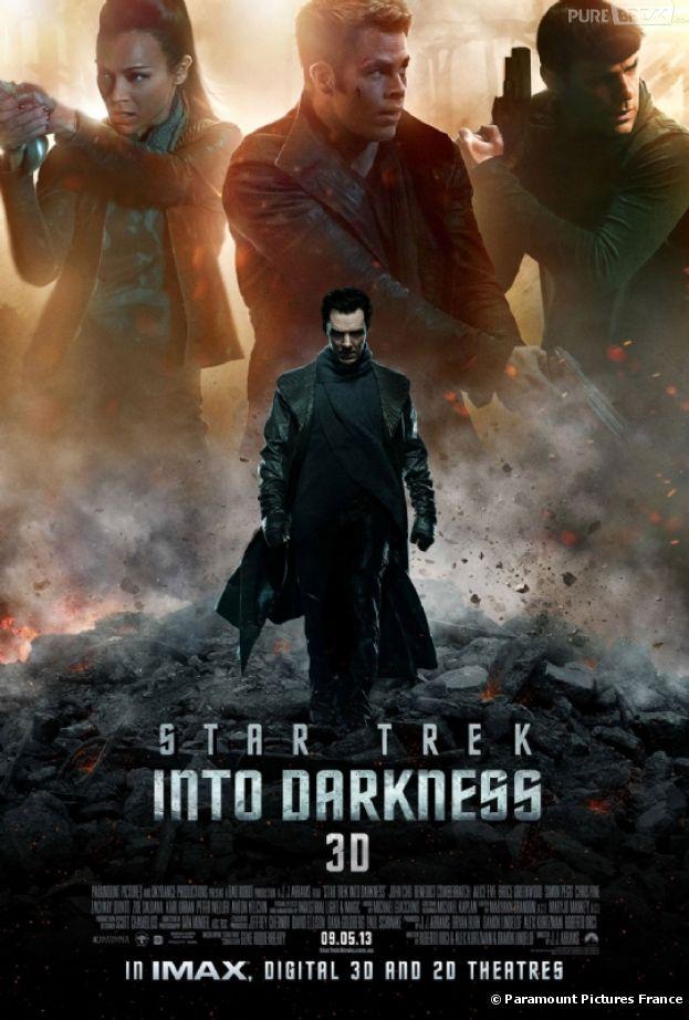 Poster dark et menaçant pour Star Trek Into Darkness