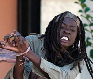 Michonne a eu chaud dans The Walking Dead