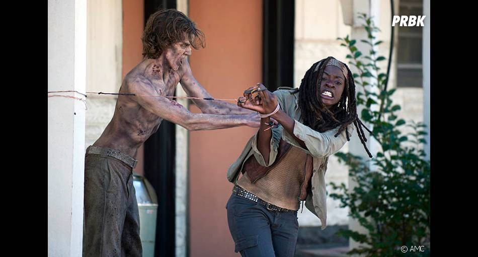 Michonne a eu chaud dans The Walking Dead