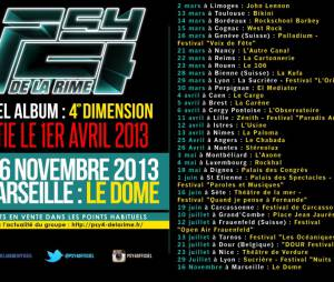 La tournée 2013 des Psy 4 de la Rime se termine le 16 novembre à Marseille