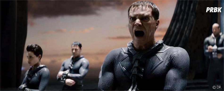 Michael Shannon en méchant qui fait très peur dans Man of Steel