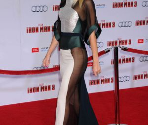 Gwyneth Paltrow en transparence à l'avant-première d'Iron Man 3 le 24 avril 2013