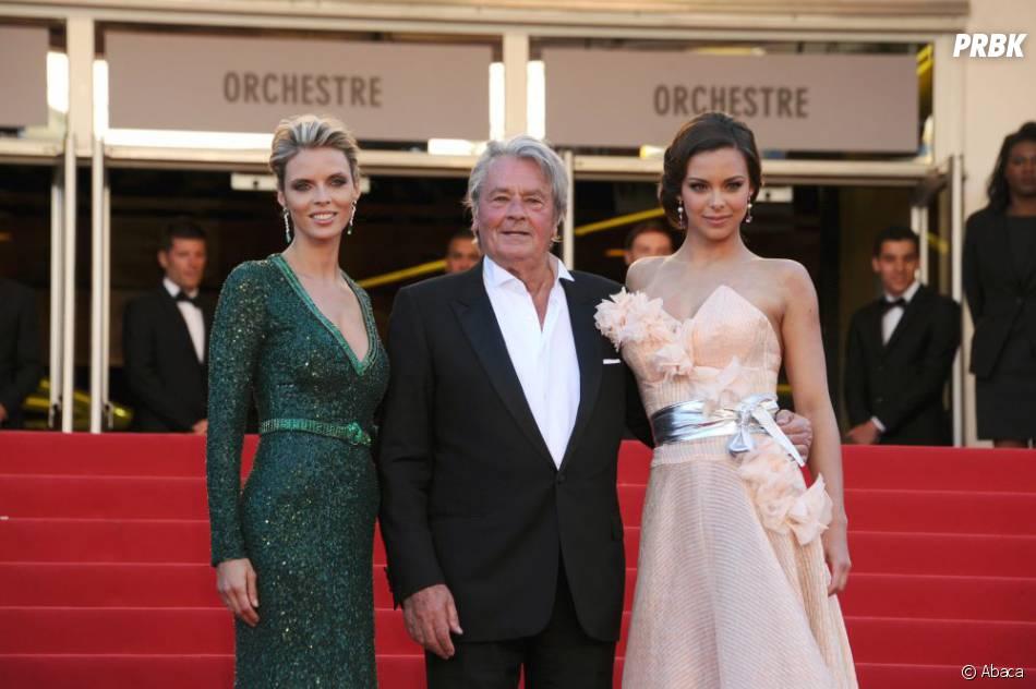 Alain Delon, Marine Lorphelin et Sylvie Tellier à Cannes
