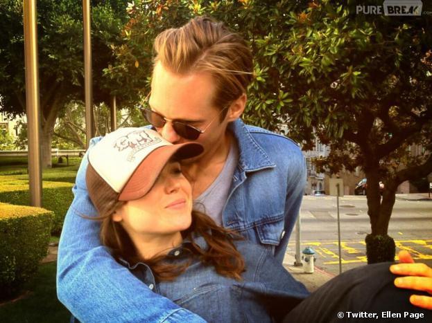 Ellen Page et Alexander Skarsgard très complices sur une photo postée sur le compte twitter de l'actrice