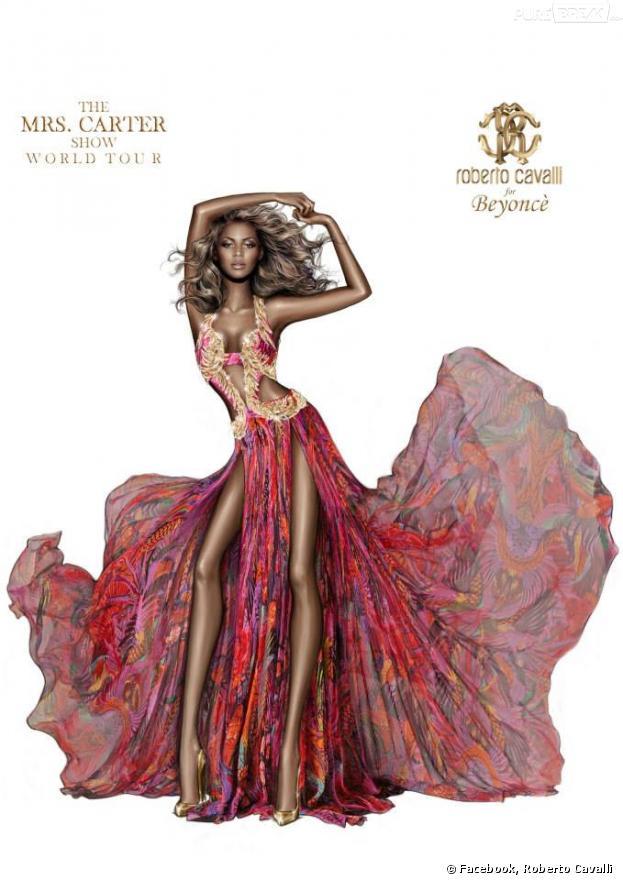 Beyoncé devient anorexique sous le crayon de Roberto Cavalli
