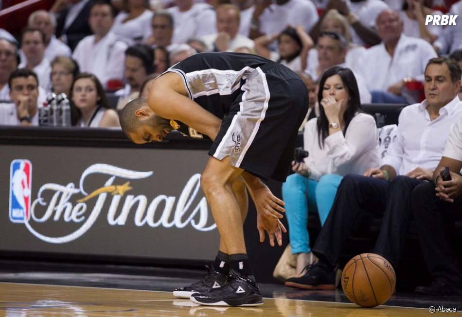 Tony Parker n'a pas fait le poids face au Miami Heat, jeudi 20 juin 2013 en Floride