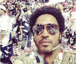 Lenny Kravitz fête la victoire du Heat de Miami, jeudi 20 juin 2013