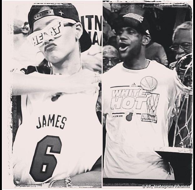 Rihanna, fan n°1 de LeBron James