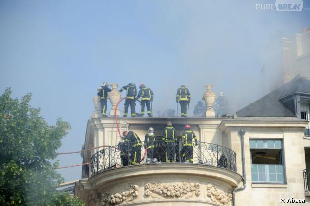 L'hôtel Lambert a pris feu à Paris entre la nuit du mardi 9 juillet et mercredi 10 juillet 2013
