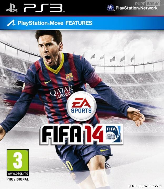 La jaquette officielle de FIFA 14 sur PS3