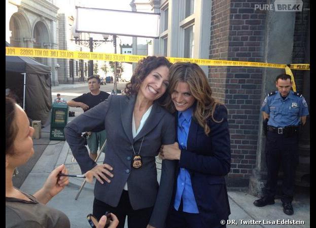 Castle saison 6 : Lisa Edelstein et Stana Katic sur le tournage