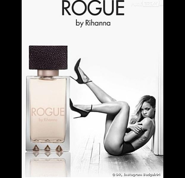 Rihanna : topless pour la promotion de son parfum Rogue
