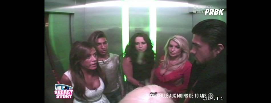 Secret Story 7 : 6 candidats convoqués dans l'octogone du mystérieux ascenseur.