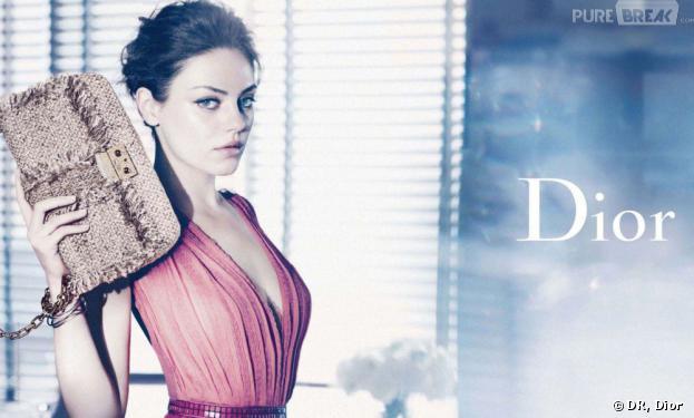 Les égéries de sacs à main : Mila Kunis pour Dior