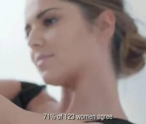 Cheryl Cole sans maquillage pour la pub de L'Oréal Paris.