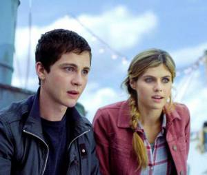 Logan Lerman et Alexandra Daddario, aka Percy et Annabeth dans Percy Jackson : La Mer des Monstres