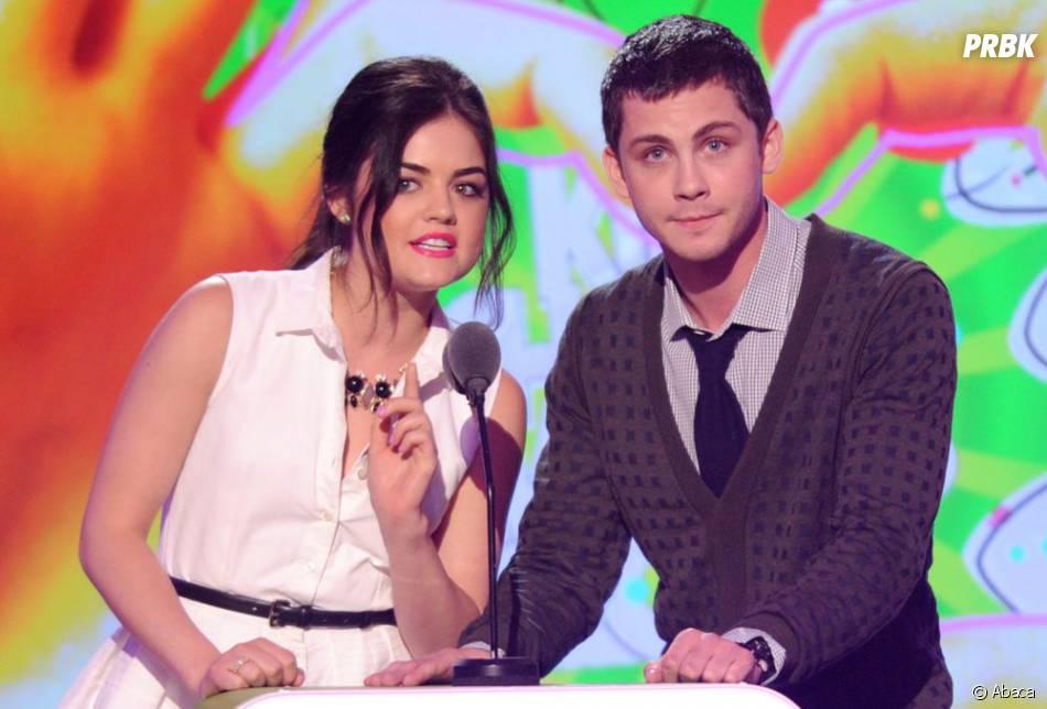Lucy Hale et Logan Lerman aux Kids Choice Awards 2013