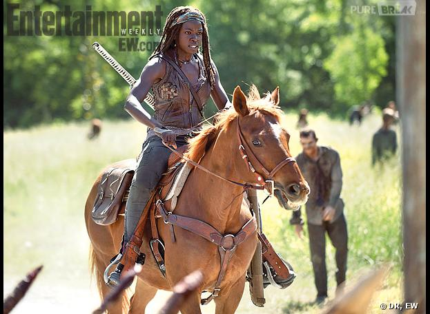 The Walking Dead saison 4 : Michonne monte à cheval
