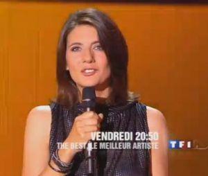 The Best, le meilleur artiste : Estelle Denis, présentatrice de l'émission.