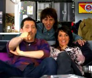 """Gad Elmaleh, Florence Foresti et Elie Semoun réunis dans un sketch, extrait de la pastille humoristique """"La télé commande"""""""
