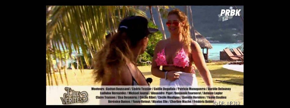 L'île des vérités 3 : Aurélie a jeté les affaires de Laura dans la piscine.