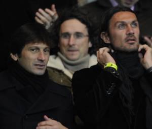 Leonardo et Paolo Maldini au Parc des Princes, le 14 janvier 2012
