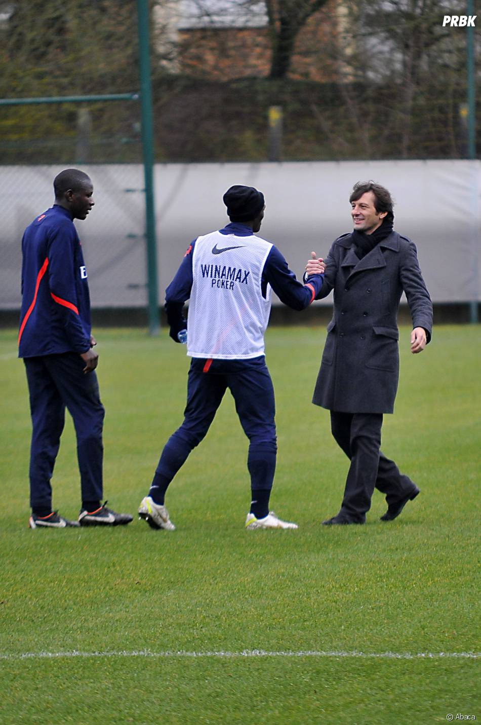 Leonardo pendant une séance d'entraînement du PSG, le 25 janvier 2012
