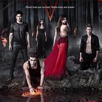 The Vampire Diaries saison 5 : un poster en rouge et noir