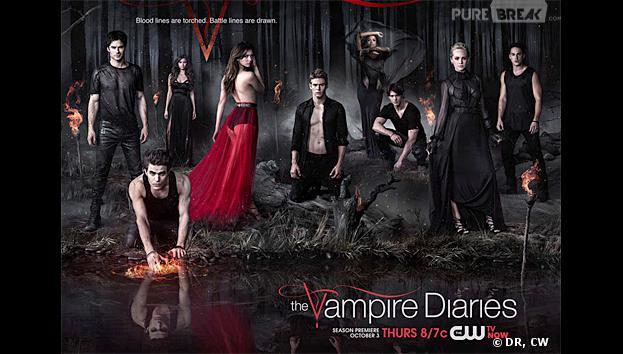 Vampire Diaries saison 5 : poster avec les acteurs