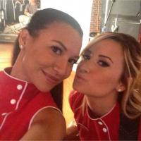 Glee saison 5 : Naya Rivera emballe Demi Lovato avant le tournage
