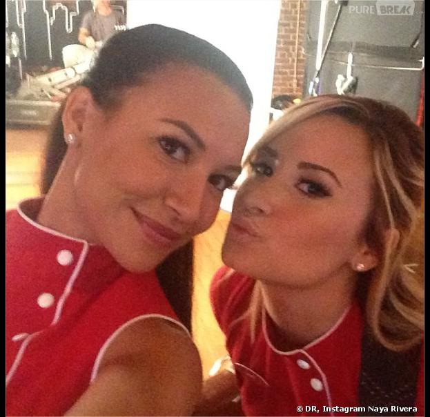 Glee saison 5 : la technique de Naya Rivera pour mettre Demi Lovato à l'aise