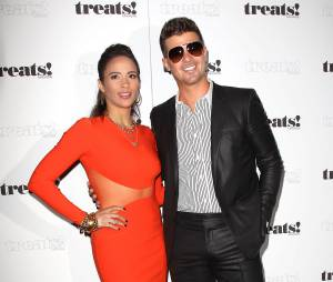 Robin Thicke et Paula Patton aux MTV Video Music Award 2013 le 25 aôut 2013