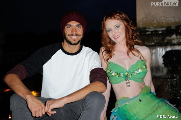 Secret Story 7 : Julien prend la pose lors de la Fashion Week à Fontainebleau dimanche 29 septembre 2013.