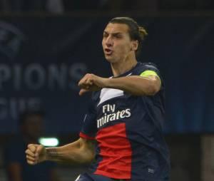 PSG : Zlatan Ibrahimovic après son but face à Benfica, le 2 octobre 2013 au Parc des Princes