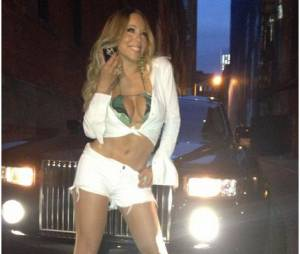 Mariah Carey prend la pose sur Twitter