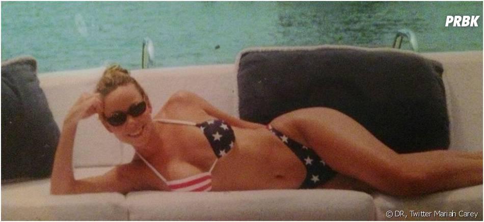 Mariah Carey : bikini sur Twitter pour le 4 juillet 2013