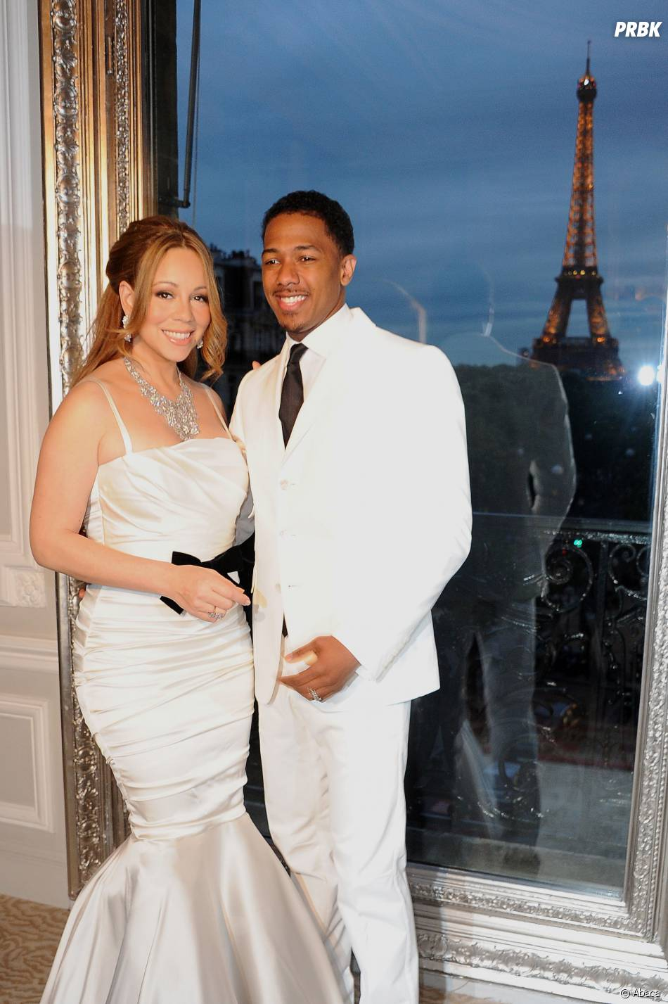 Mariah Carey et Nick Cannon à Paris, le 27 avril 2012