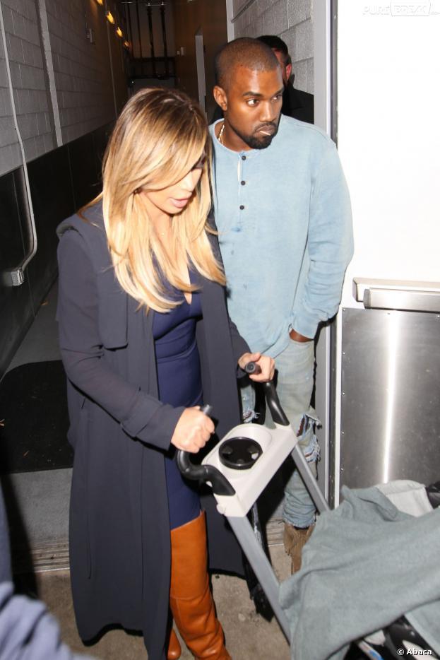 Kim Kardashian et Kanye West : sortie en famille avec North