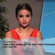 Selena Gomez, Demi Lovato, Katy Perry... lecture des tweets de haters chez Jimmy Kimmel