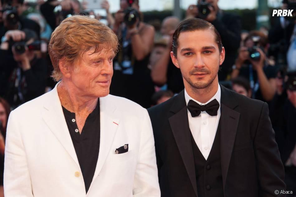 Shia LaBeouf et Robert Redford au festival de Venise 2012