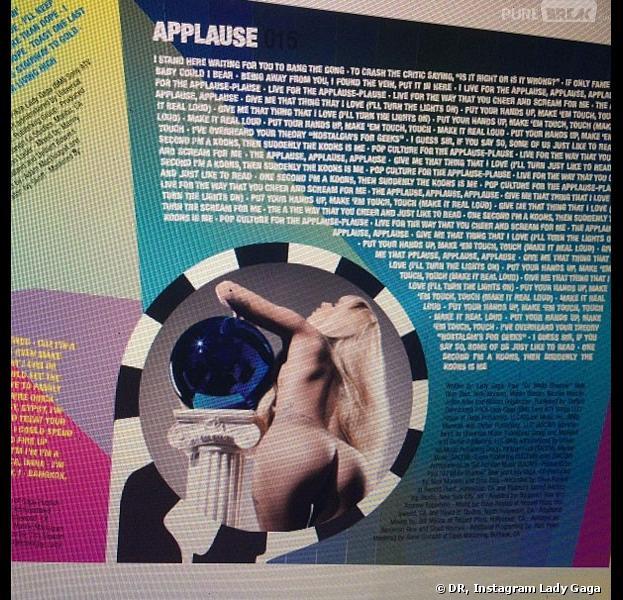 Lady Gaga : les fesses à l'air sur le livret d'ARTPOP