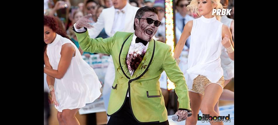 Psy en zombie pour Halloween
