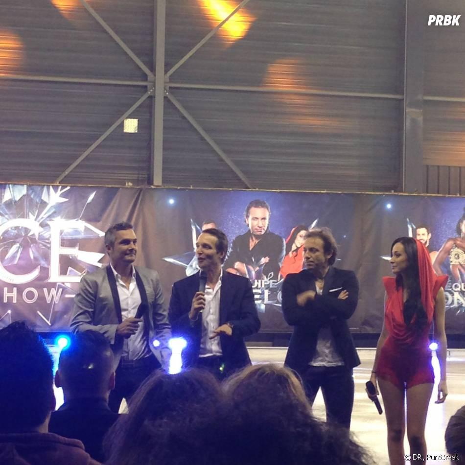 Ice Show : Kenzah Fara et Richard Virenque en compagnie de Philippe Candeloro