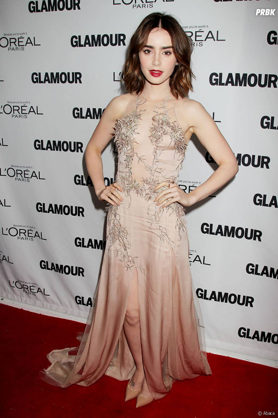 Lily Collins sublime pour les Glamour Women Of The Year Awards 2013