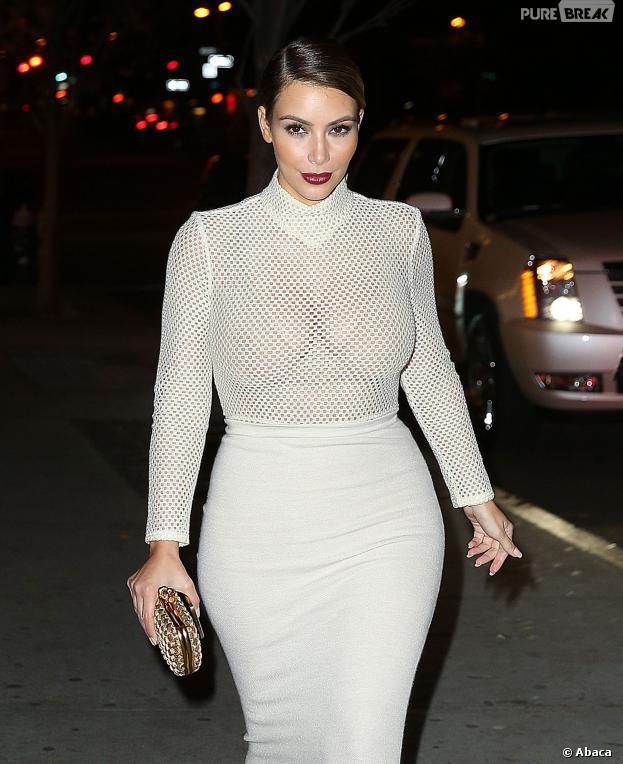 Kanye West, les seins à l'air (ou presque) à New York, le 18 novembre 2013