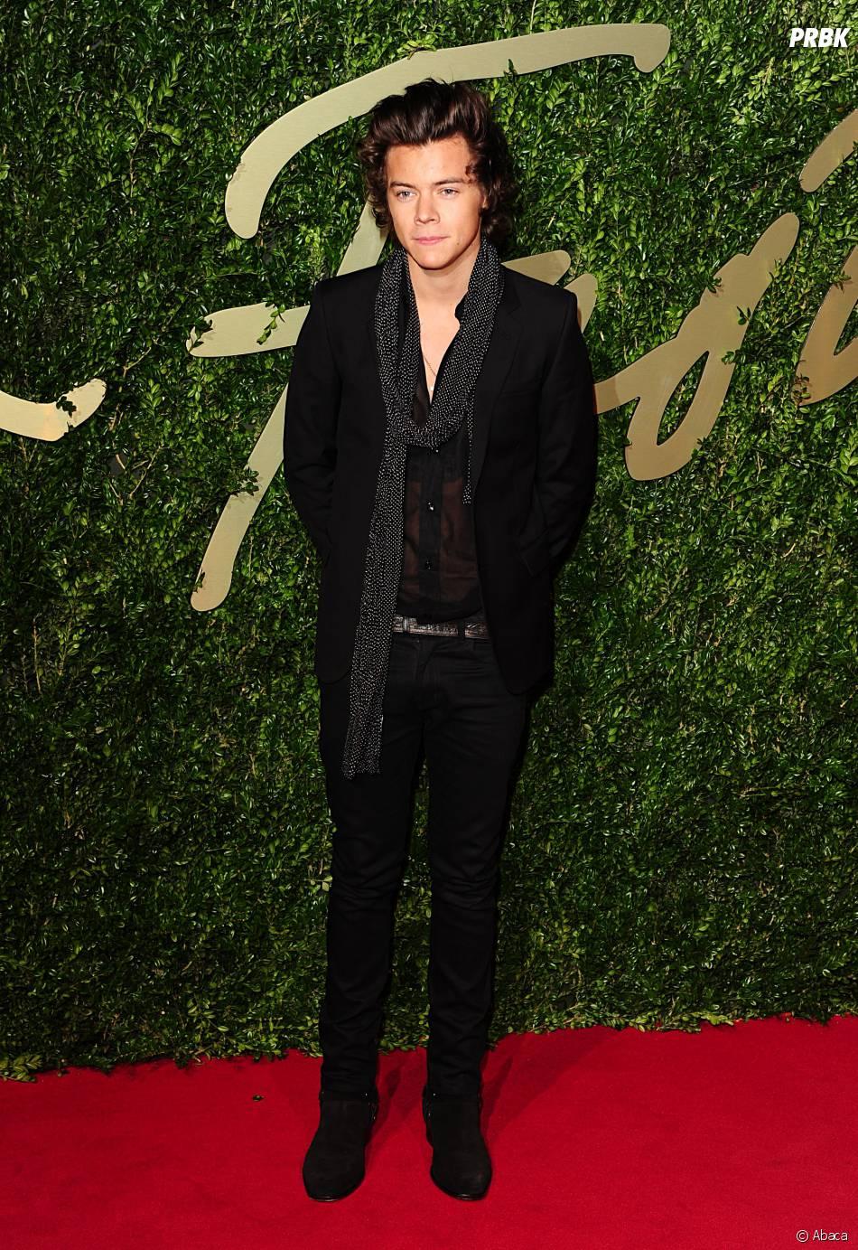 Harry Styles aux British Fashion Awards à Londres, le 2 décembre 2013