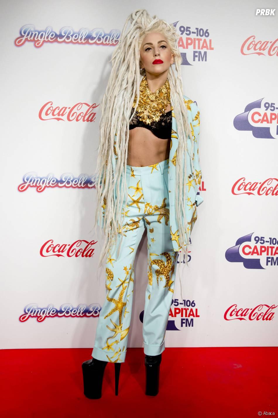 Lady Gaga au Jingle Ball à Londres le 8 décembre 2013