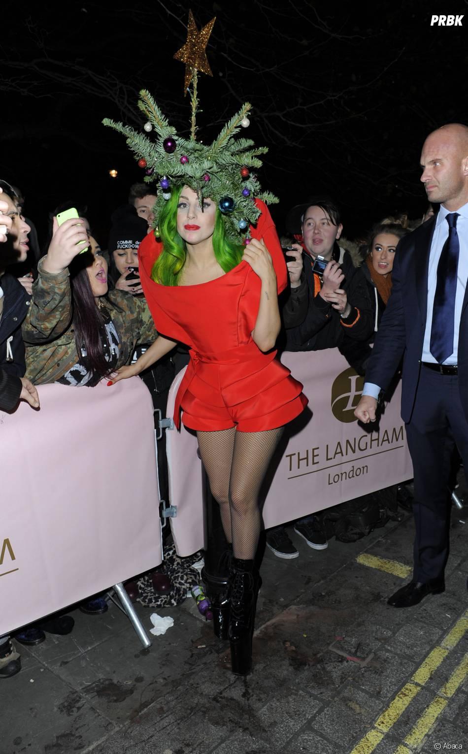 Lady Gaga à Londres le 8 décembre 2013