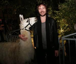 Serge le Lama avec Philippe Krier (Nouvelle Star), à Bordeaux le 7 novembre 2013