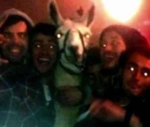 Serge le Lama et ses ravisseurs en novembre 2013